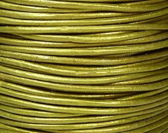 1.5mm Metallic Tota Premium Leather Cord - 3 Yards / 9 Feet / 2.74 Meters