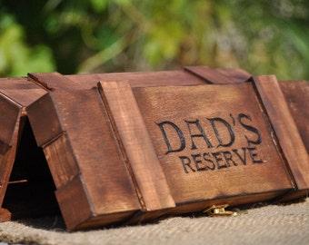 Personalized Rustic Liquor-Wine Box - Groomsmen Gift - Father's Day
