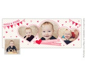 INSTANT DOWNLOAD  - Valentine Facebook Timeline Cover template - E650