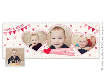 INSTANT DOWNLOAD  - Valentine Facebook Timeline Cover template - E650