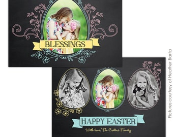 INSTANT DOWNLOAD - Easter Photocard -Template for photographers- E729