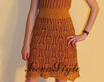 Crochet Dress  ESKADA SPORT custom made, hand made, crochet - 100% cotton
