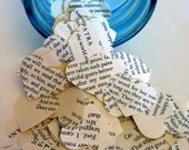 SHAKESPEARE HEARTS 100 Pieces-Table Scatters, Wedding, Invitations, Shower, Bridal, Confetti, Party Decor, Vintage Book