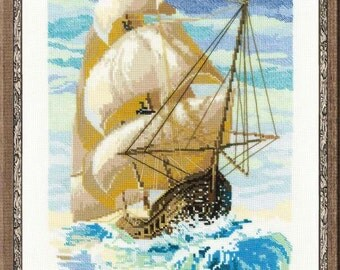 Counted Cross stitch kit from Riolis collection - sailboats