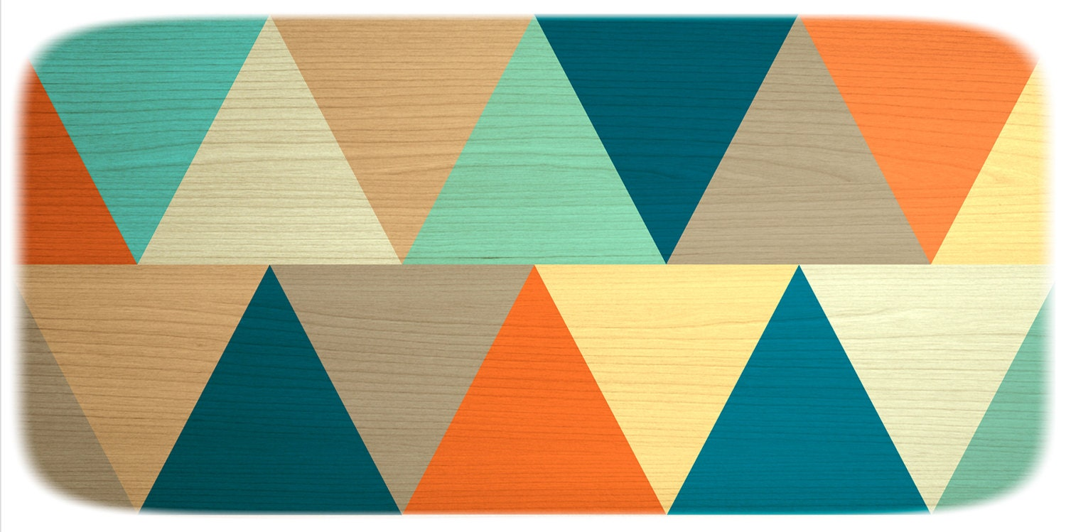 Mid century modern canvas print panorama teal orange the modern art shop amipublicfo Choice Image
