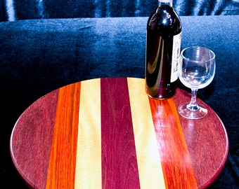 Exotic Wood Lazy Susan