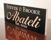 Last Name Established Sign, Personalized Anniversary Sign, Benchmark Custom Signs Maple AB