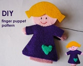 DIY Finger Puppet Felt Pattern - Girl Lola - charity