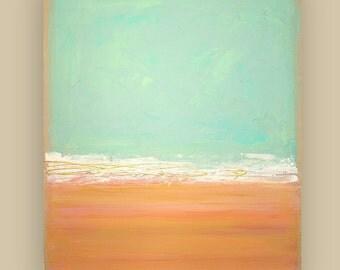 "Abstract Painting,Original Acrylic Art,Fine Art Painting,Beach Painting,Acrylic on Canvas by Ora Birenbaum, CORAL REEF 2 30X36X1.5"""