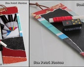 Art with a purpose - Decorative Chalkboard Photo Bookmark - One of a kind - Eco Friendly - Secret Love Notes, To Do Lists