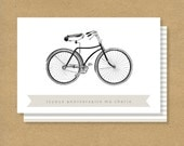 BIRTHDAY CARD - French Bicycle Birthday Card - Joyeux Anniversaire Ma Chérie