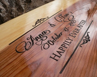 Happily Ever After anniversary or wedding gift personalized two person tree swing 34-36""