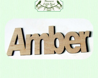 Custom Name Wood Cut Out - Laser Cut