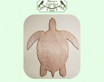 Sea Turtle / Turtle (Medium) Wood Cut Out - Laser Cut
