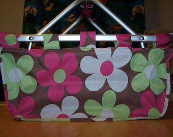 Large Flowered Foldable Tote