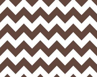 Chevron Fabric - Brown Fabric - Quilting Fabric - Riley Blake Chevrons