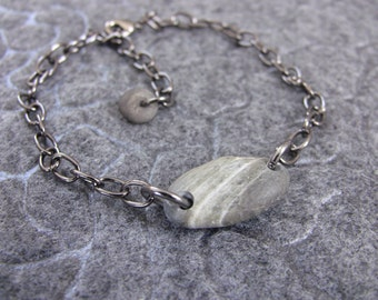 Bracelet - Beach Stone BRACELET - Beach Stone Jewelry - Stone Bracelet - Beach Rock Jewelry - Gift for Her