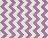"Fabric-Riley Blake Medium Chevron Lavendar and White last 29"""