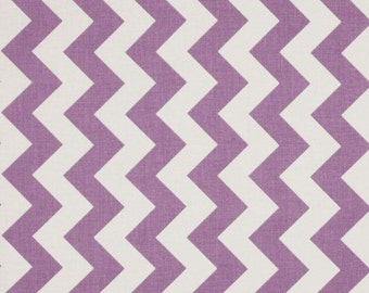 Fabric-Riley Blake Medium Chevron Lavendar and White last 29""