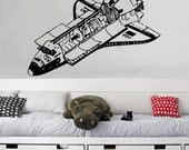 Space Shuttle - uBer Decals Wall Decal Vinyl Decor Art Sticker Removable Mural Modern A170