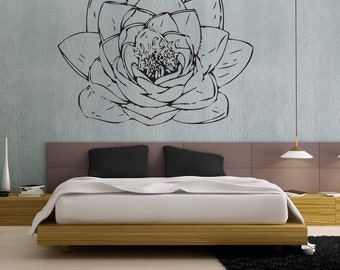 Lotus Blossom - uBer Decals Wall Decal Vinyl Decor Art Sticker Removable Mural Modern A186