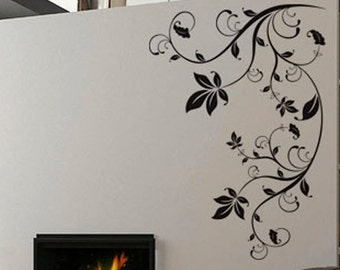 Modern Floral 10 - uBer Decals Wall Decal Vinyl Decor Art Sticker Removable Mural Modern A437