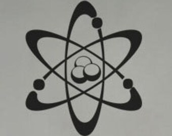 Science Atom Chemistry - uBer Decals Wall Decal Vinyl Decor Art Sticker Removable Mural Modern A811