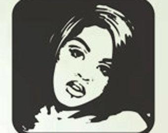 Modern Woman Art - uBer Decals Wall Decal Vinyl Decor Art Sticker Removable Mural Modern A812