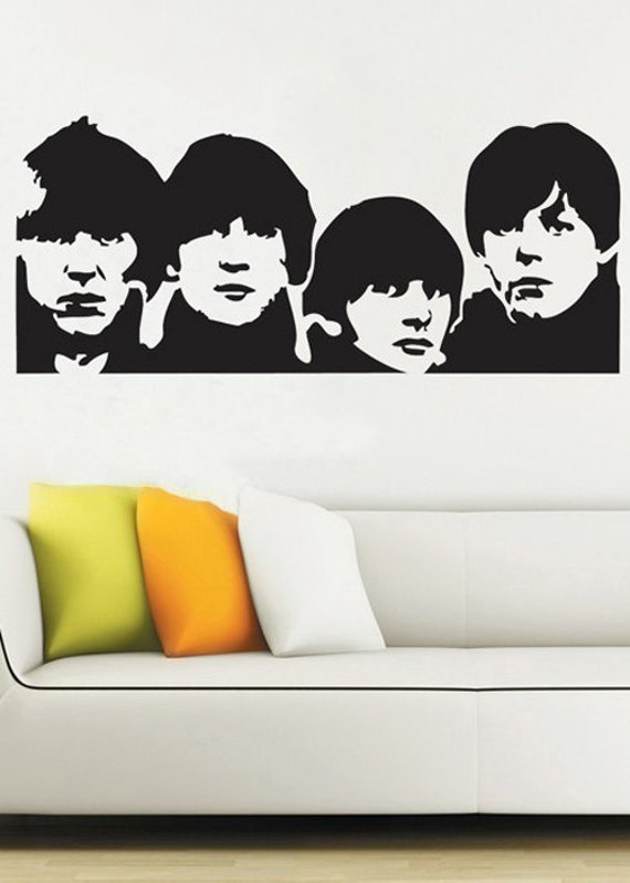 Beatles uber decals wall decal vinyl decor art sticker for Beatles wall mural