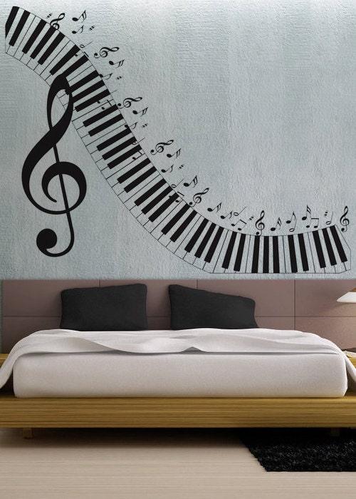 Piano Keyboard Wall Decal Vinyl Decor Art Sticker By