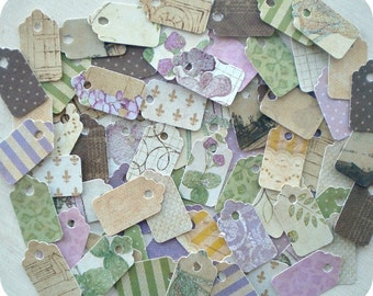 Lavender Jewelry Tags (72) - Shabby Jewelry Tags-Hang Tags-Mini Tags-Small Tags-Price Tags-Blank Tags-Gift Tags-Bulk Tags-Boutique Tags