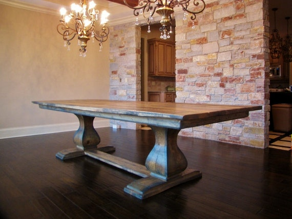 Exceptional Items Similar To Belly Pedestal Farmhouse Table On Etsy