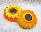 Handmade Beautiful flower Sunflower Scented Soap - Scrub