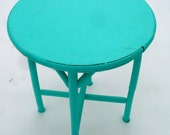 Round Table End Table Cottage Chic Shabby Chic Side Table RESERVED