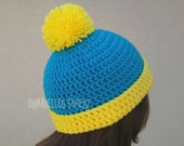 Adult Character Beanie Hat with Pom Pom, Cartman Hat