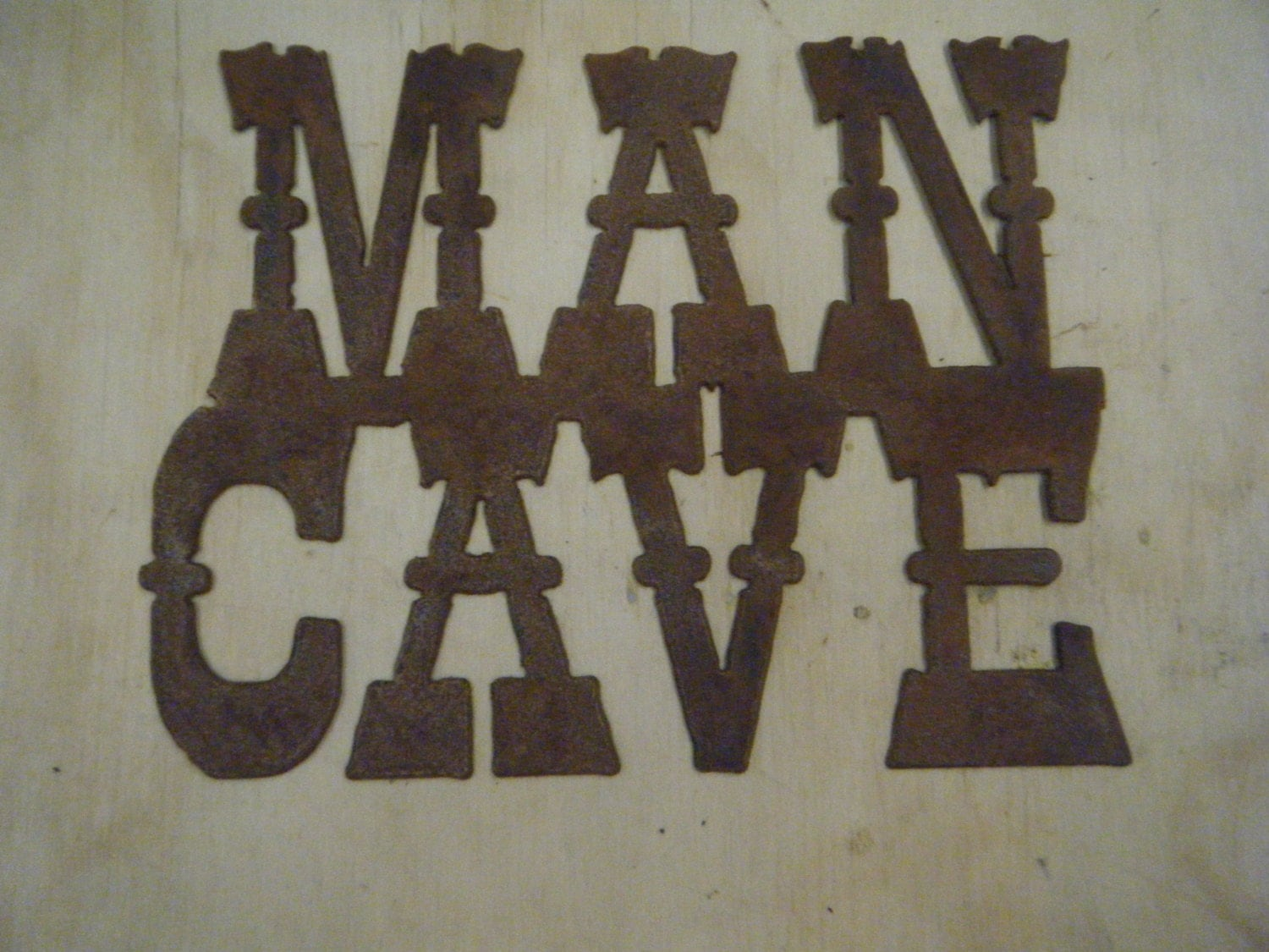 Personalised Metal Man Cave Signs : Free shipping rusted rustic metal man cave sign