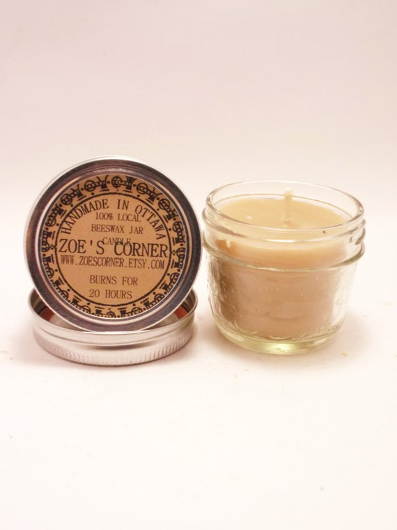 Beeswax Candle - Portable Jar candle (BURNS FOR 15 HOURS)