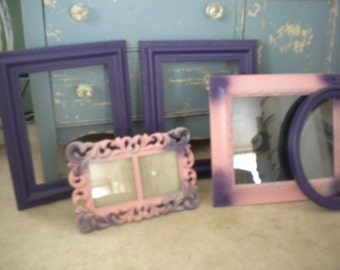 SALE....Eclectic Set of Frames,French Baby's Room, Nursery,Shabby Chic,Wedding