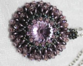 Purple Crystal Pendant Necklace