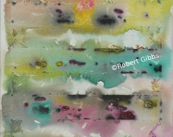 Original Abstract Painting, Colorful Wall Art, Contemporary, Home Decor, Yellow, Green, Pink