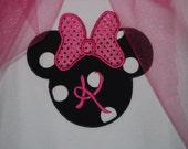 Girls Minnie Mouse Applique -bodysuit or Boutique shirt!