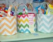Chevron Print Fabric Easter Basket