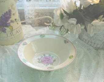 Vintage Serving Bowl Roses Cottage Country Prairie Chic
