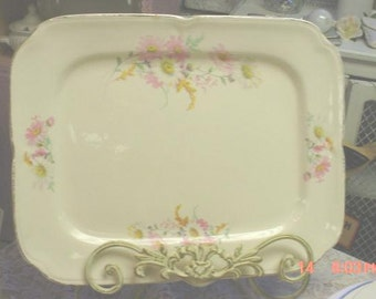 Vintage Serving Platter French Cottage Chic Edwin Knowles