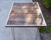 5 ft Hammered steel Dining Table with Hairpin Legs 30x60