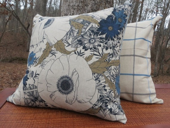 Items similar to Floral Printed Decorative Pillow Cover- Extra Large Pillow - 22