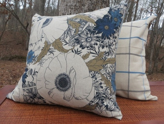 Extra Big Throw Pillows : Items similar to Floral Printed Decorative Pillow Cover- Extra Large Pillow - 22