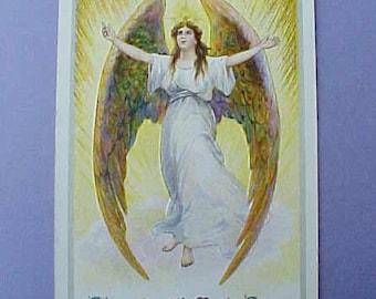 Pretty Edwardian Era Easter Angel Postcard