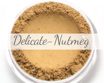 Vegan Mineral Foundation Sample - Delicate Formula NUTMEG - medium shade with a neutral undertone