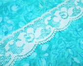 Blue lace, 1 yard of 1 inch Pale Blue Chantilly Lace trim for wedding lace, bridal lace, lingerie lace, baby by MarlenesAttic - Item V9